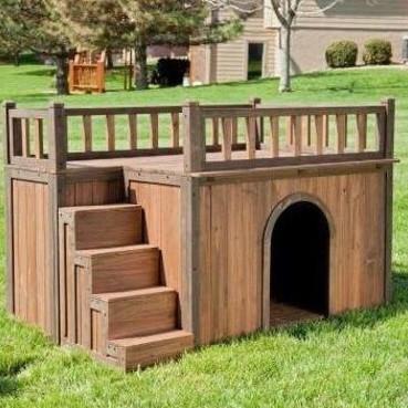 Двухуровневая будка для собак