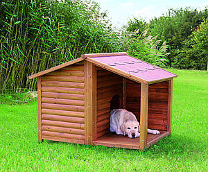 Деревянная будка для лабрадоров