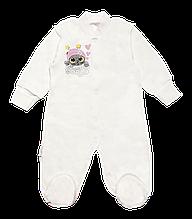 Чоловічок для новонароджених КВ-19-25-1 *Милашки* (Колір: Молочний, Розмір - 56)