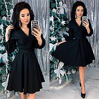 Модное платье черного цвета 42-44, 46-48 р.
