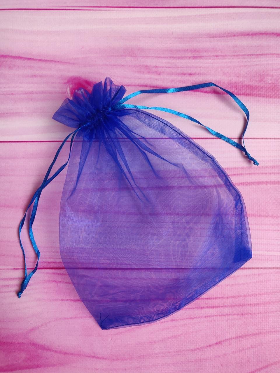 Мешочек из органзы /размер 17х23 см./ упаковка подарков/ цвет синий