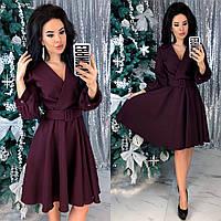 Модное платье бордового цвета 42-44, 46-48 р.