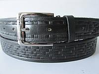 """Ремень мужской брючный шпенек черный(кожа, 35 мм.) №М18114 """"Remen"""" LM-638"""