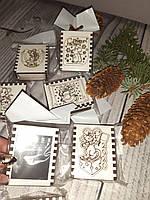 Магніт-сірники. Новорічний магніт на холодильник з символом року., фото 1