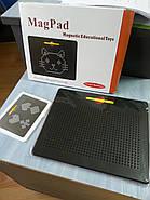 Магнитный планшет для рисования Mag Pad черный 714 шариков MP714B, фото 2