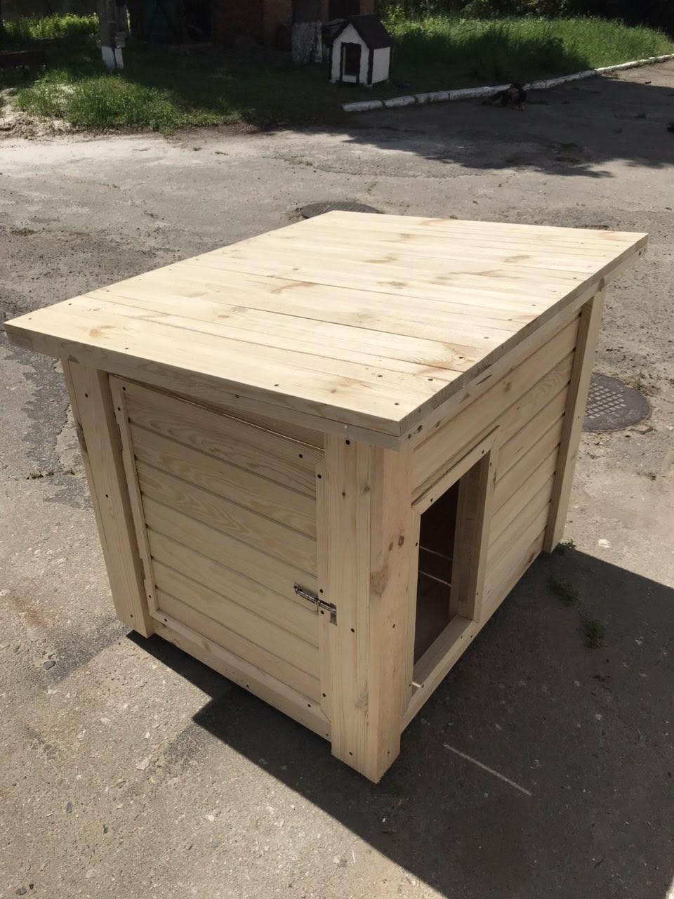 """Деревянная будка """"Омега"""" для собак"""