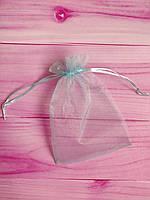 Мешочек из органзы /размер 13х18 см./ упаковка подарков/ цвет голубой