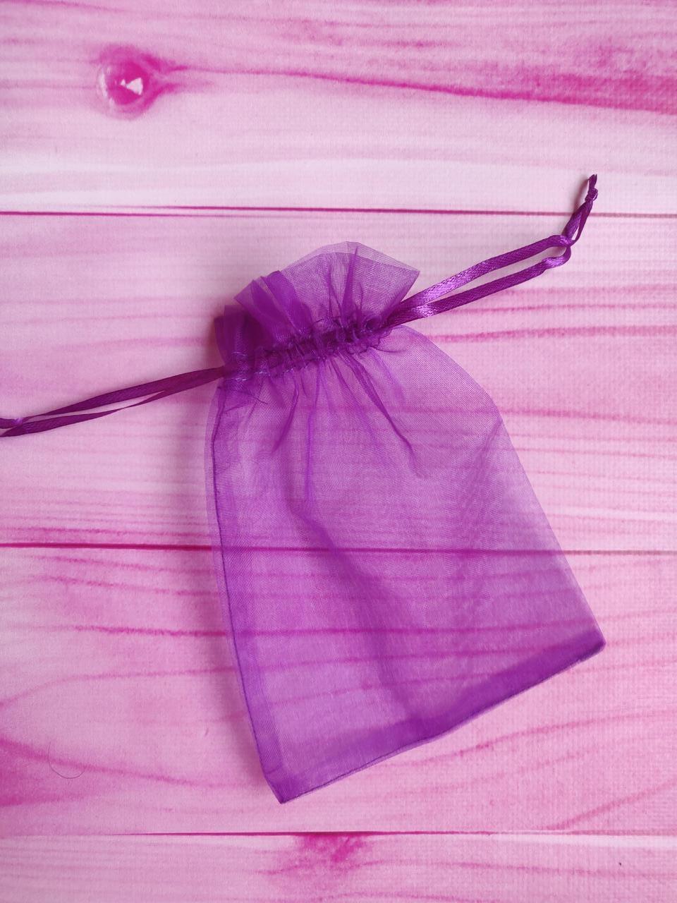 Мешочек из органзы /размер 13х18 см./ упаковка подарков/ цвет фиолетовый