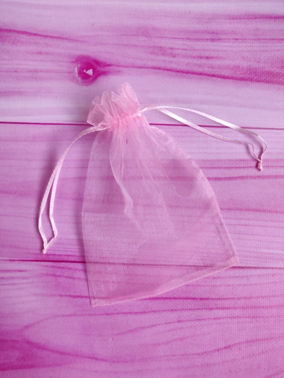 Мешочек из органзы /размер 13х18 см./ упаковка подарков/ цвет розовый
