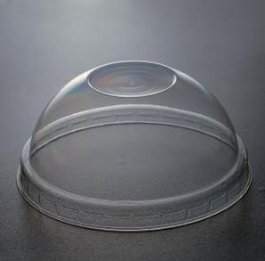 Одноразовая ПЕТ крышка круглая без отверстия прозрачная
