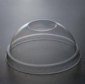 Одноразовая ПЕТ крышка круглая без отверстия прозрачная, фото 2