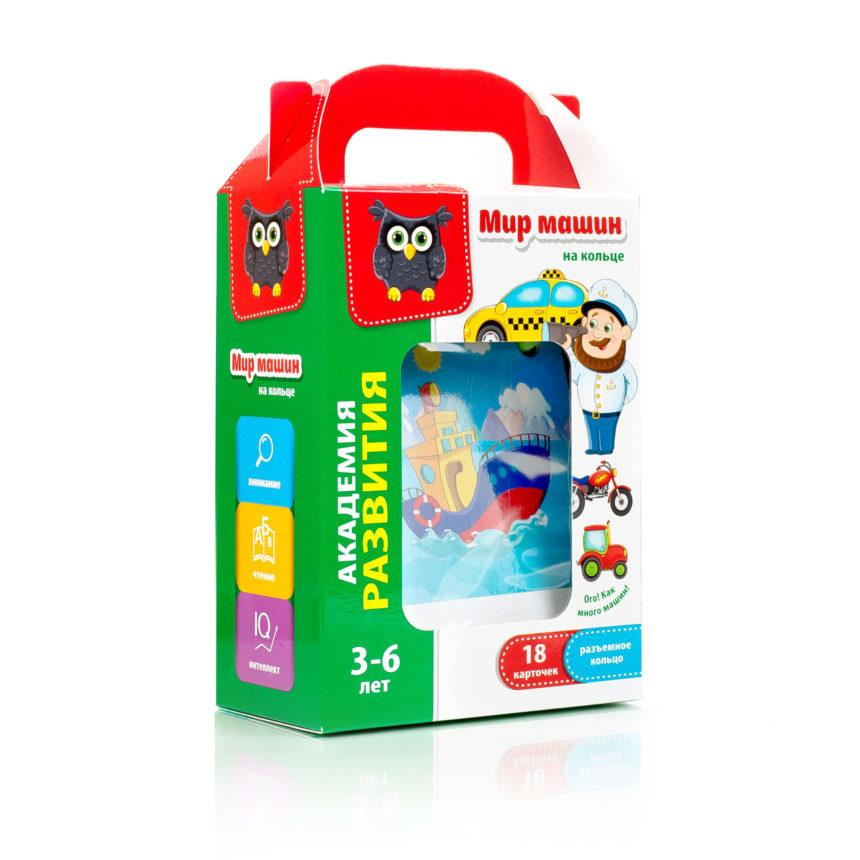 Карточки на кольце Vladi Toys Мир машин (Рус) (VT5000-04)