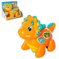 Динозавр музыкальный1145-NL, 24см, музыка, звук, свет, ездит, двиг.голов/хвостом, на бат-ке