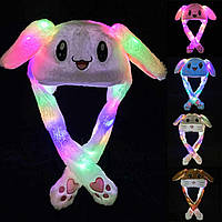 Праздничная шапка зайца с поднимающимися и светящимися ушками оригинал, фото 1