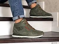 Мужские зимние кроссовки Reebok (темно-зеленые)