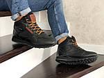 Мужские зимние кроссовки Reebok (черно-коричневые), фото 2