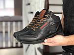 Мужские зимние кроссовки Reebok (черно-коричневые), фото 3
