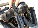 Мужские зимние кроссовки Reebok (черно-коричневые), фото 5