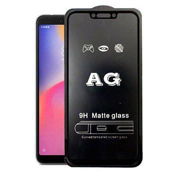 Матовое 5D стекло для Xiaomi Pocophone F1 Black Черное - Полный клей