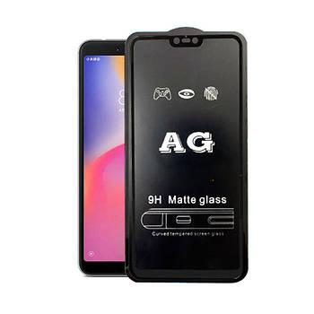 Матовое 5D стекло для Xiaomi Mi 8 Lite Black Черное - Полный клей