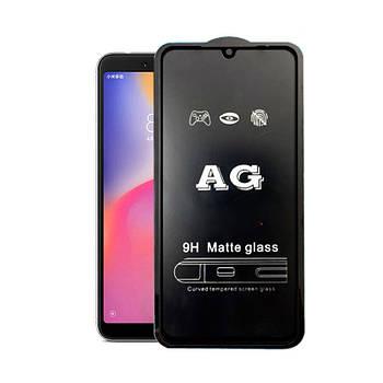 Матовое 5D стекло для Xiaomi Mi 9 Black Черное - Полный клей