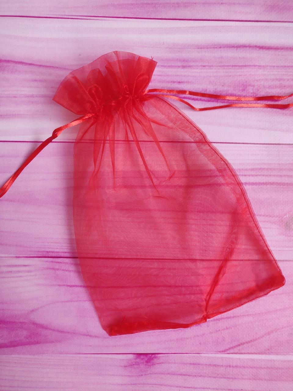 Мешочек из органзы /размер 20х30 см./ упаковка подарков/ цвет красный