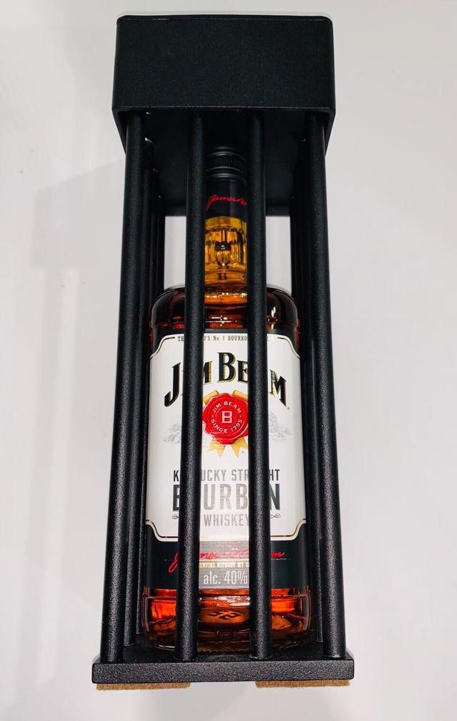 Алкоголь в металлической клетке подарок