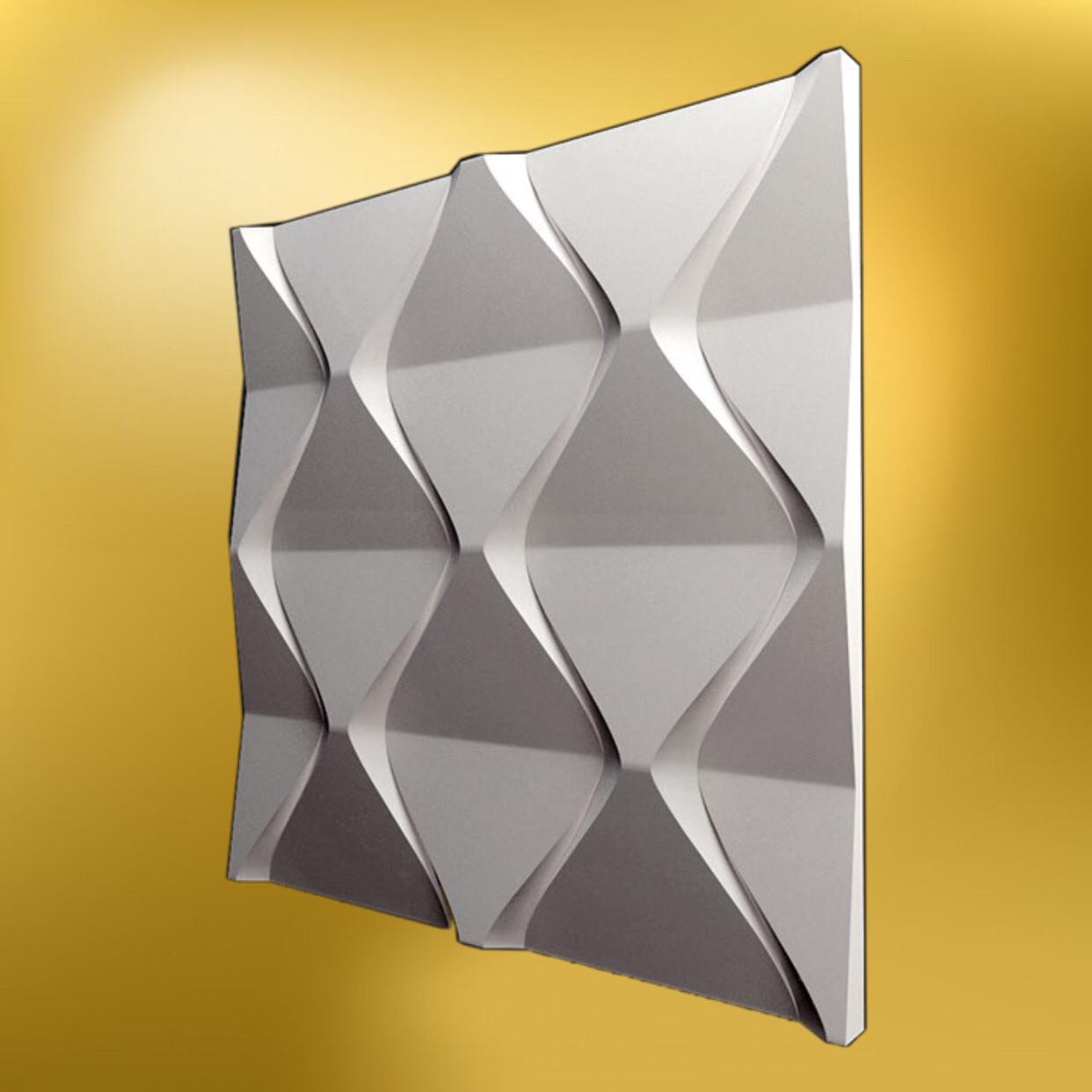 """Гипсовая 3д панель, """"Пирамидка"""" LNK"""
