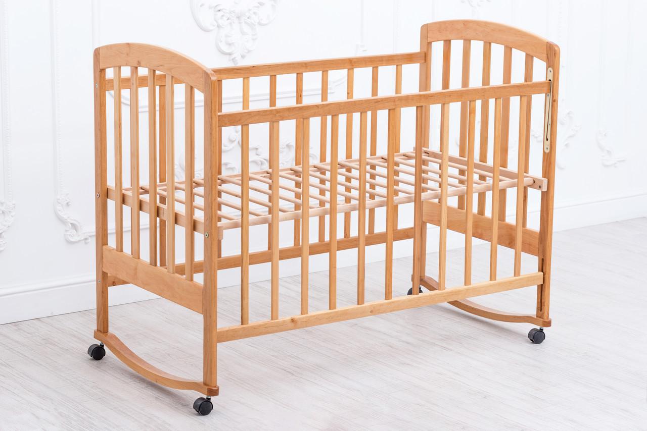 Детская кроватка «LAMA» ( натуральный лак ) Натуральный лак