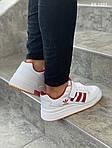 Мужские кроссовки Adidas Forum Mid (бело-красные), фото 2