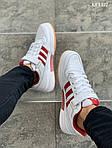Мужские кроссовки Adidas Forum Mid (бело-красные), фото 3