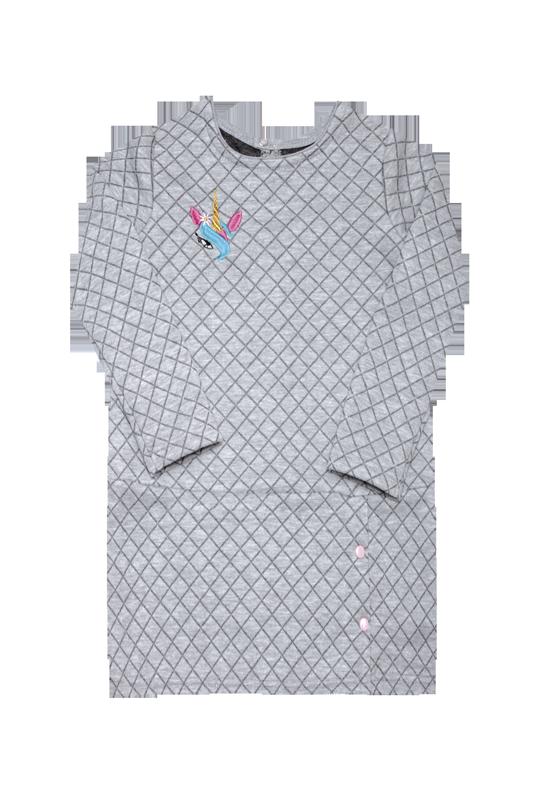 Туніка для дівчинки TL-19-37-2 *Написи*(Колір: сірий. Розмір: 110)