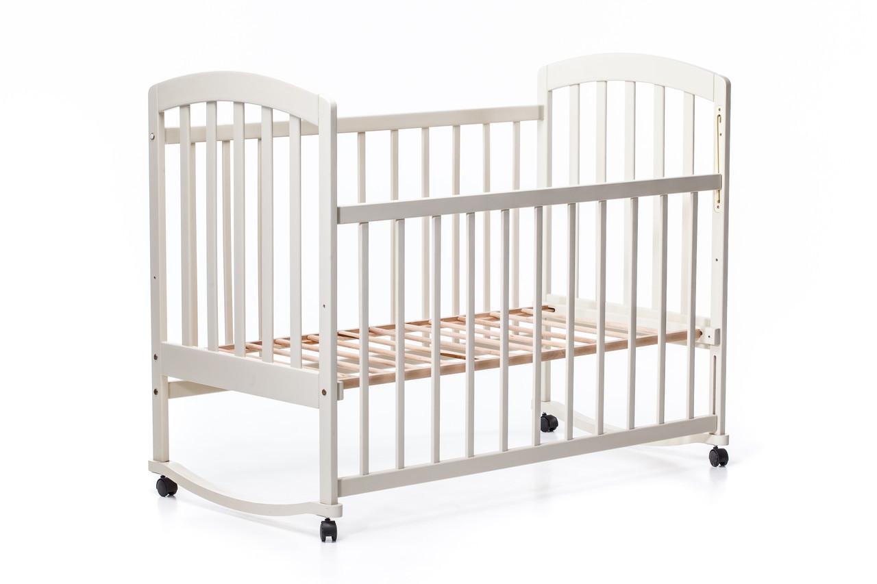 Детская кроватка «LAMA» ( натуральный лак ) Ваниль
