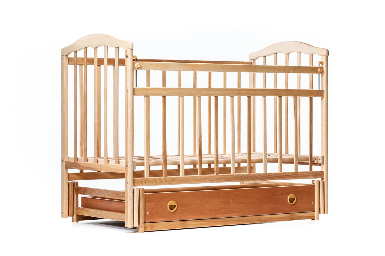 """Детская кроватка """"Чайка"""" ( натуральный лак ) Натуральный лак"""