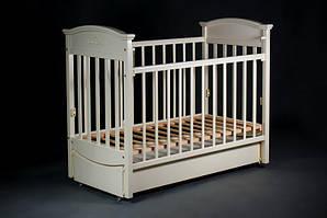 """Детская кроватка """"Наполеон VIP"""" ( Белая ) Ваниль"""