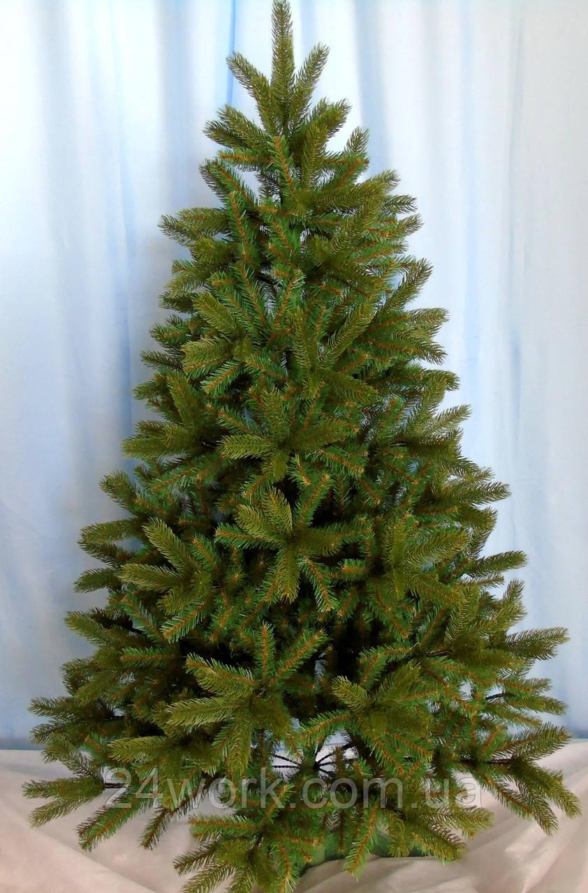 Ель искусственная литая зеленая 2.1 м.