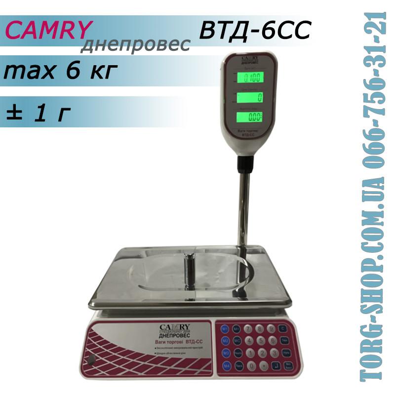 Торговые весы Camry Днепровес ВТД-6СС