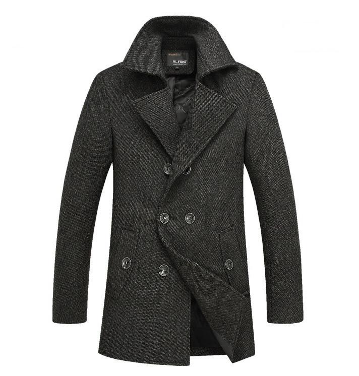 Мужское осеннее пальто Geben.Мужской стильный пиджак пальто -  Интернет-магазин