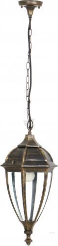 Светильник уличный подвесной Интеркласс Лима E27 60 Вт IP44 античное золото 8021Н