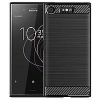 Противоударный TPU чехол Rugged Carbon для Sony Xperia XZ1 (g8341, g8342) (черный)