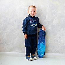 Детский свитер для мальчика SV-19-31-2 *Технобой* (Цвет: темно-синий, Размеры - 86, 92)