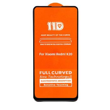 11D (5D+) стекло для Xiaomi Redmi K20 Black Черное - Полный клей