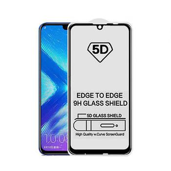 5D стекло для Huawei P Smart 2019 Черное - Клей по всей плоскости