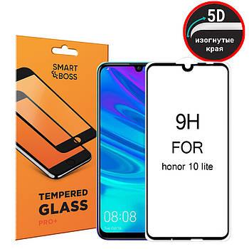 5D стекло для Honor 10 Lite Premium Smart Boss™ Черное - Изогнутые края