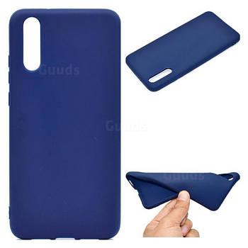Силиконовый чехол TPU Soft for Huawei P20 Темно-синий