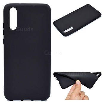Силиконовый чехол TPU Soft for Huawei P20 Черный