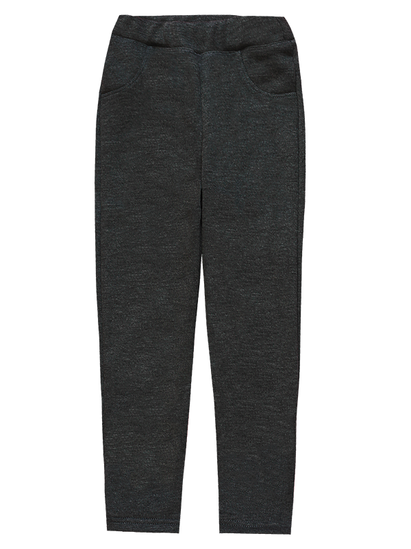 Детские брюки-джеггинсы для девочки *Мех* (Цвет: антрацит, размер 98,110,116)