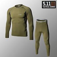 """🔥 Комплект термобелья """"5.11 Tactical. Level-1"""" (олива) (флисовое зимнее тактическое для спорта)"""