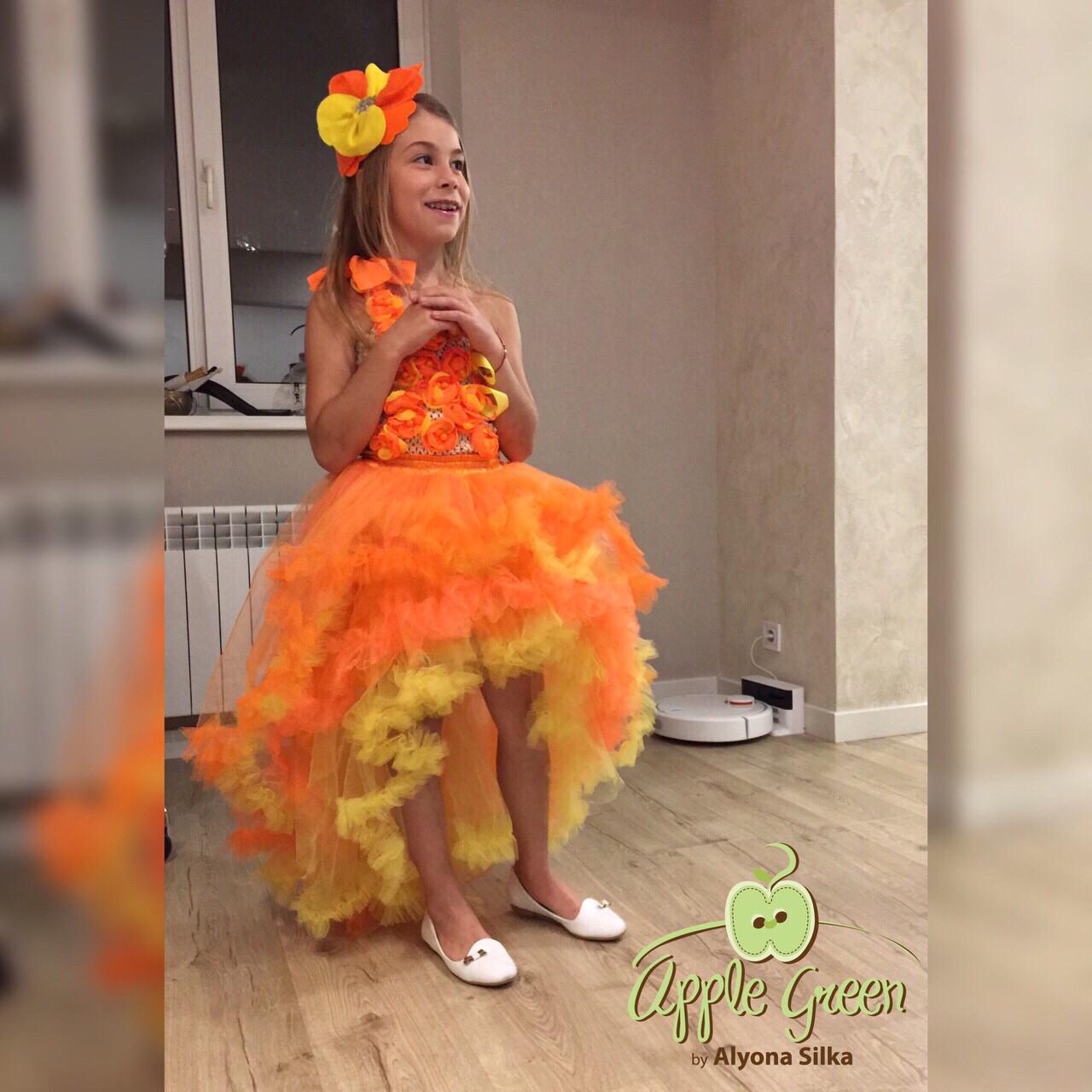 костюм цветочек, нарядное платье на выпускной