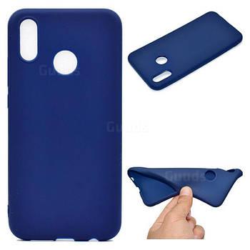 Силиконовый чехол TPU Soft for Huawei P20 Lite Темно-синий